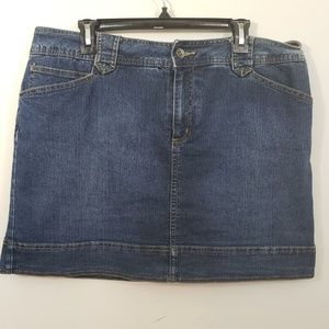 St John's Bay Women Size 16 Blue Jean Skirt
